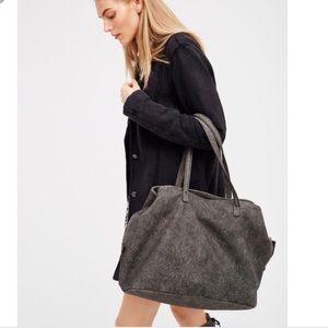 Free people large grey bag